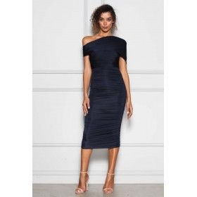 NAVY RUCHED...