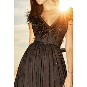 BLACK GOWN...
